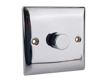2-Way Dimmer Switch 400W 1-Gang Chrome